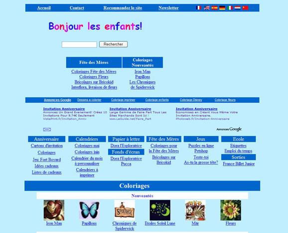 Site bonjourlesenfants.net