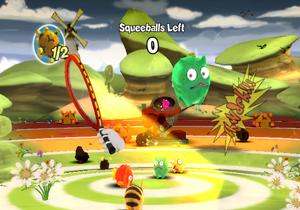 Squeeballs Party se joue seul, en tournoi ou à deux, trois ou quatre