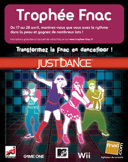 Trophe Fnac Just Dance, le dance floor est  vous&#8230;