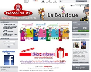 Promotions sur les logiciels PC / Mac et DS de Nemopolis