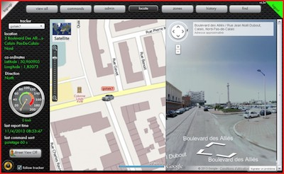 Mode Street View traceur GPS enfant GoTrackGadget