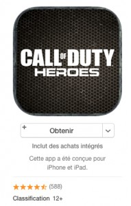 classification jeux Apple