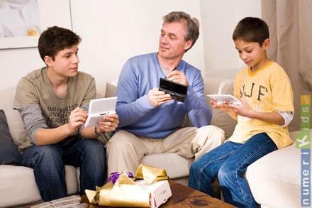 Une console portable qui joue en réseau