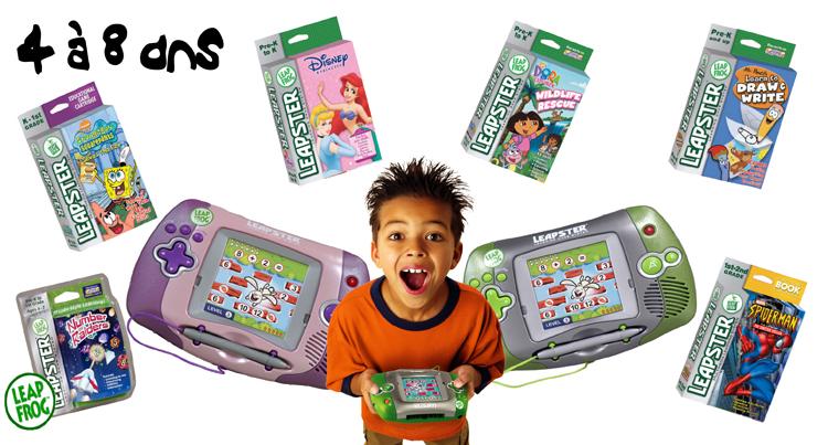 Leapster une console portable tactile et ducative numerikids - Console de jeux portable tactile ...
