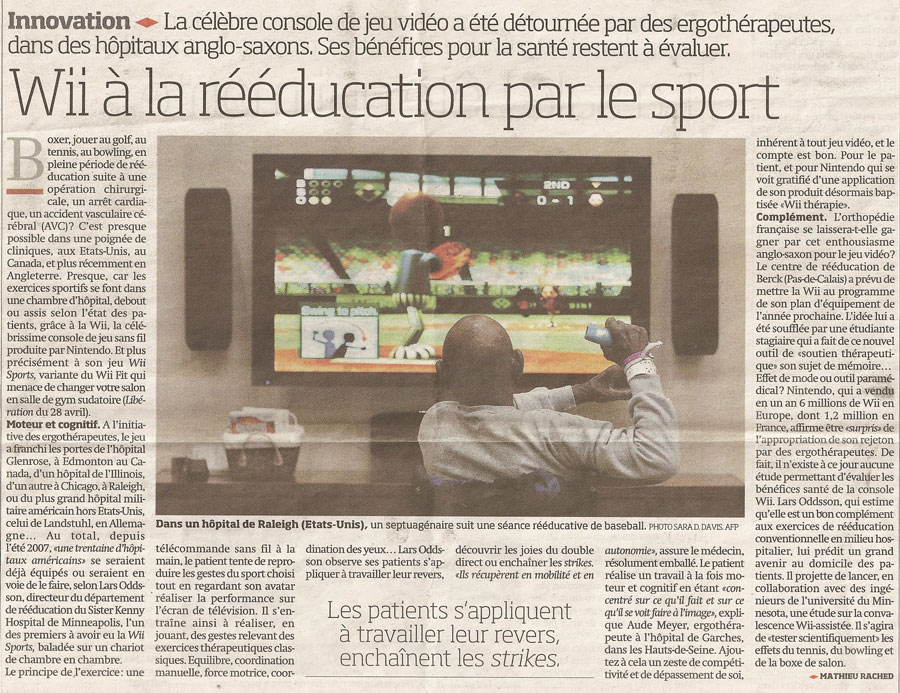 Article Mathieu Rached, Libération du 6 mai 2008