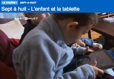 Les tablette numériques pour les enfants