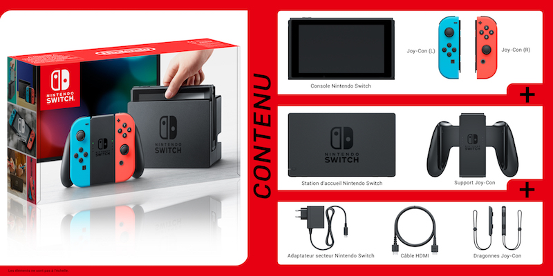 Unboxing console Nintendo Switch